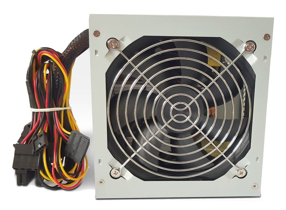 Zdroj Crono PS400Plus/Gen2 400W Zdroj, ATX, aktivní PFC, 120 mm ventilátor, 85PLUS Bronze, šedý