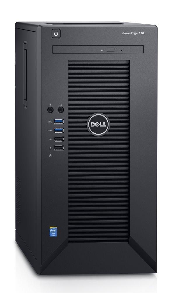 Server Dell PowerEdge T30 Server, Xeon Quad Core E3-1225 v5, 8GB, 1x 120GB SSD + 1x 1TB 7200 ot., DVDRW, 3YNBD on-site