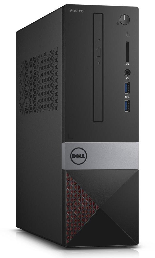 Počítač Dell Vostro 3268 SF Počítač, i3-7100, 4GB, 128GB SSD, DVD-RW, Wi-Fi, čtečka paměťových karet, W10 Pro, 3YNBD on-site