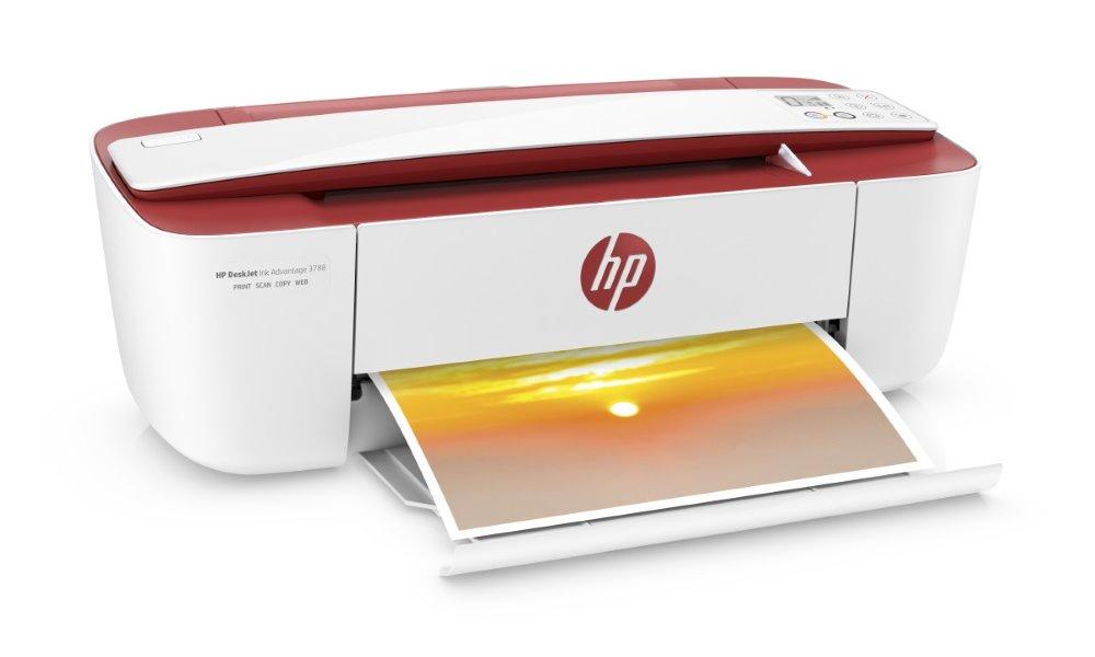 HP All-in-One Deskjet Ink Advantage 3788/ A4/ 8/5,5 ppm/ print+scan+copy/ USB/ Wifi/ Červená