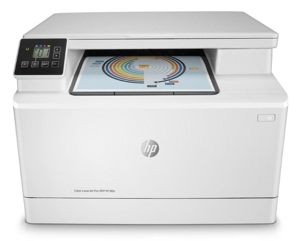 HP Color LaserJet Pro M180n MFP/ A4/ 16ppm/ print+scan+copy/ 600x600dpi/ 7segment LCD/ USB/ LAN
