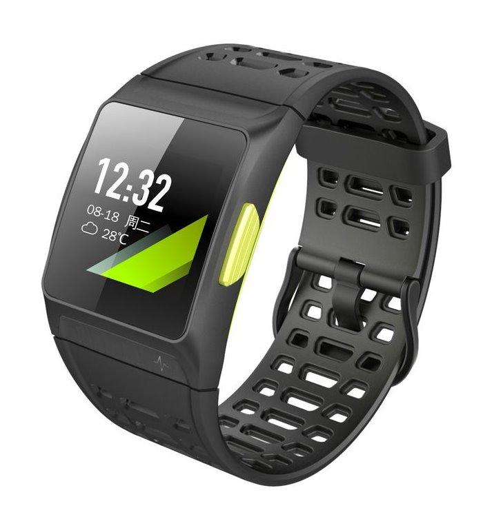 """Chytrý náramek UMAX U-Band P1 GPS Chytrý náramek, 1,3"""" OLED, GPS, Bluetooth 4.0+EDR, ATM50, iOS 8.0 +, Android 4.3 +, černo-žlutý"""