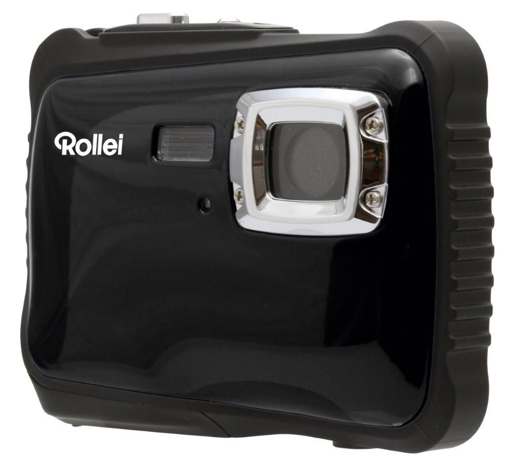 """Digitální fotoaparát Rollei Sportsline 64 černý Digitální fotoaparát, kompaktní, 5 MPx, 2"""" LCD, voděodolný do 3m, HD, brašna zdarma, černý"""