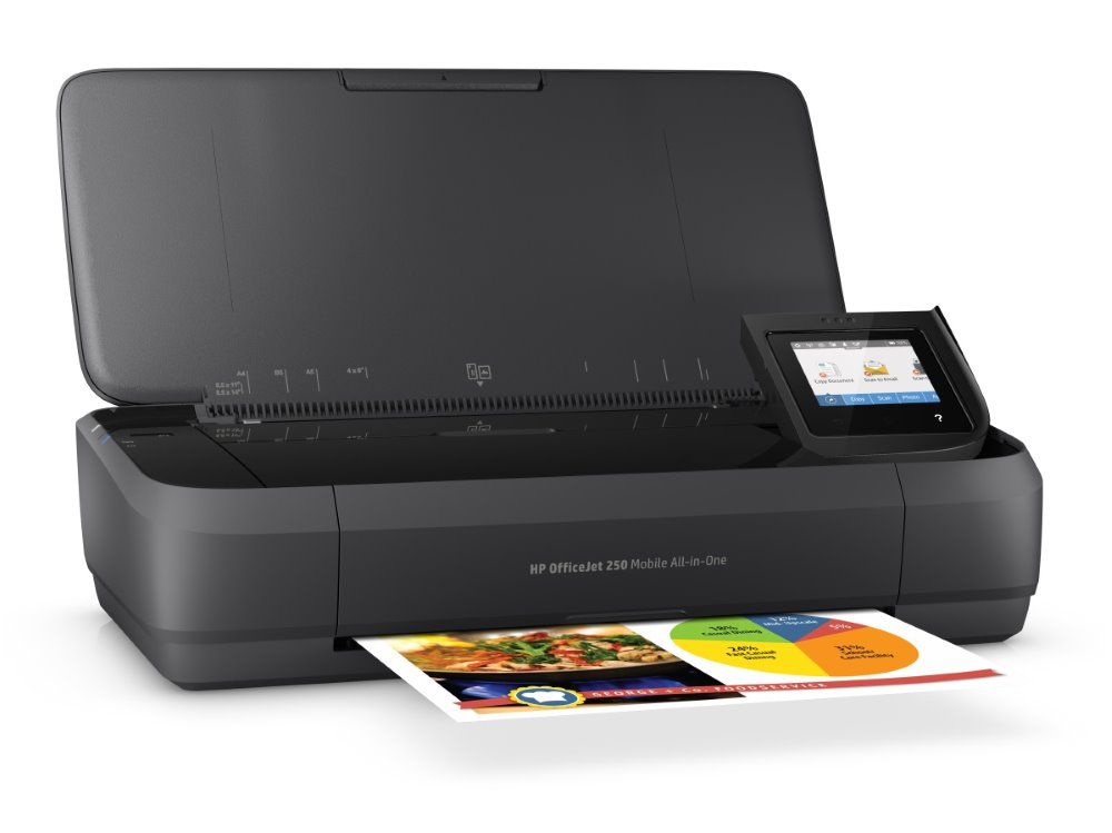 HP OfficeJet 252 Mobile AiO/ A4/ 10/7ppm/ 1200x1200 dpi/ PCL/ USB/ BT/ Wifi/ Černá