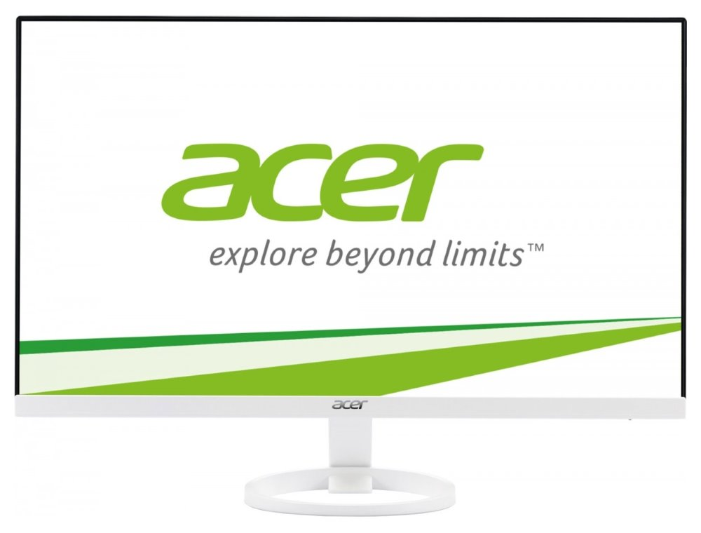 "LED monitor Acer R241Ywmid 23,8"" LED monitor, 23,8"", 1920x1080, IPS, 16:9, 100M:1, 4ms, 250 cd/m2, VGA, DVI, HDMI, reproduktory, ZeroFrame, EcoDisplay, bílý"