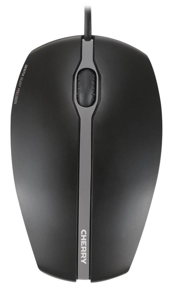 Myš CHERRY Gentix Silent černá Myš, drátová, optická, USB, ultratichá, 1000 DPI, černá