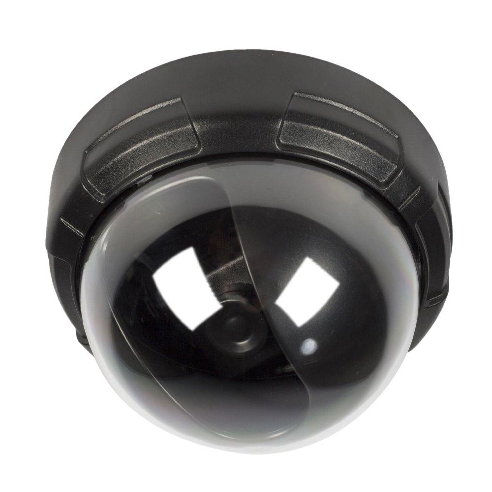 Atrapa bezpečnostní kamery König SAS-DUMMY010B Atrapa bezpečnostní kamery, blikající LED, kopulovitá, vnitřní, IP44, černá