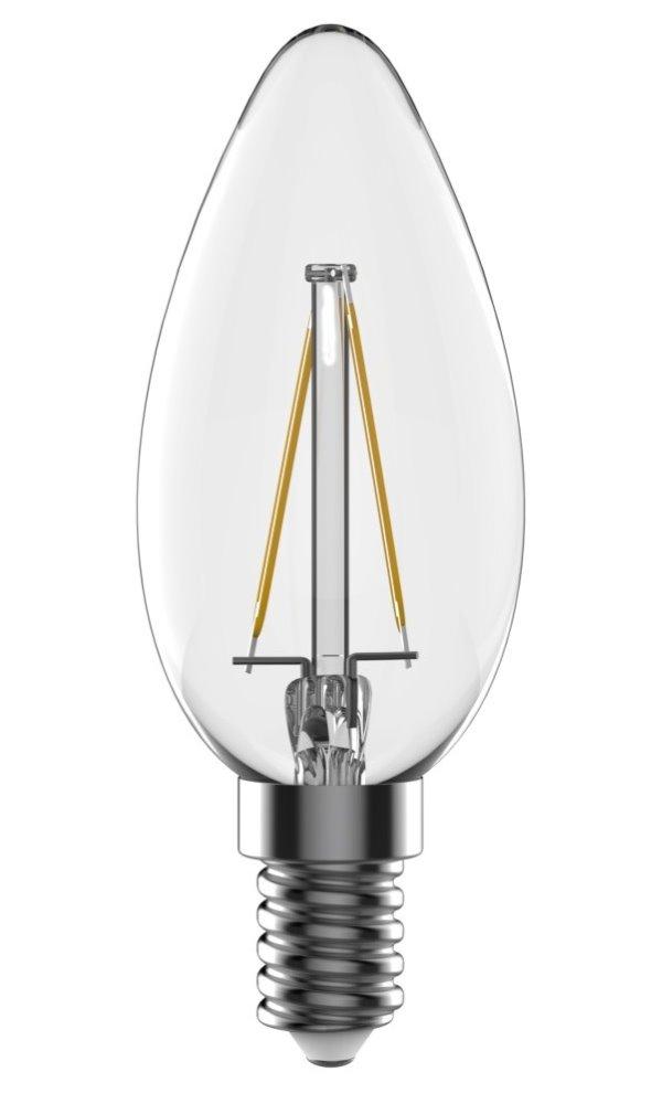 LED žárovka TESLA CRYSTAL RETRO CANDLE E14 2,2W LED žárovka, E14, 230V, 2,2W, teplá bílá, 220lm, 2700K