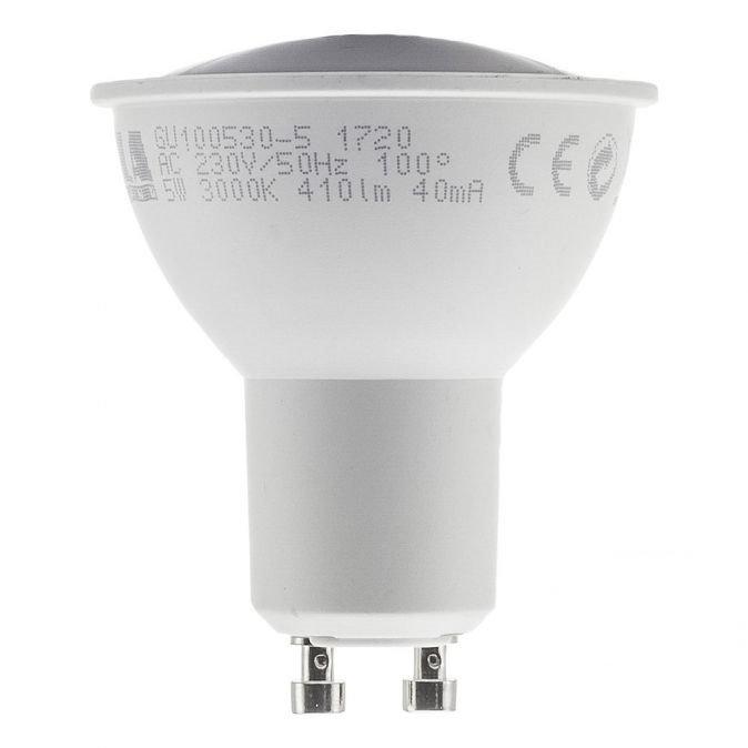 LED žárovka TESLA GU10 5W LED žárovka, GU10, 230V, 5W, teplá bílá, 410lm, 3000K