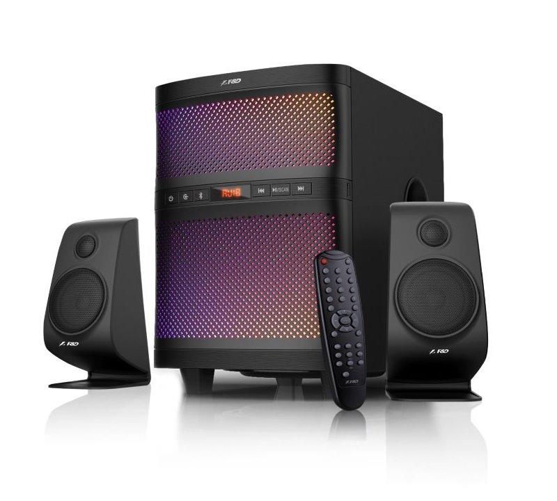 Akce! FENDA F&D repro F580X/ 2.1/ 70W/ černé/ BT4.0/ FM rádio/ USB přehrávání/ dálkové ovládání