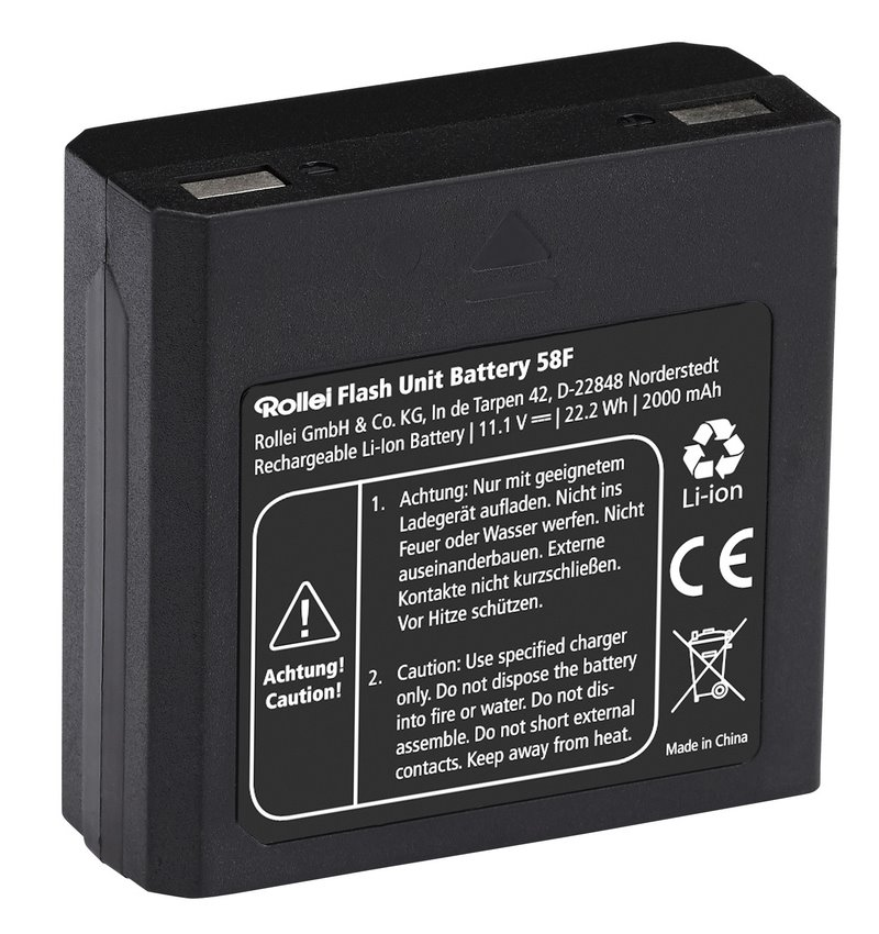 Baterie Rollei pro blesk 58F Baterie, náhradní pro blesk Rollei Flash Unit 58F, 2000 mAh