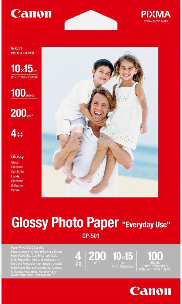 Fotopapír Canon Everyday Use Glossy GP-501 Fotopapír, 10x15cm, lesklý, 210g, 100ks 0775B003