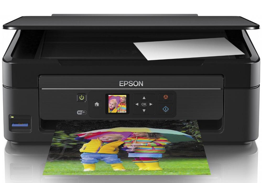 Multifunkční tiskárna Epson Expression Home XP-342 Barevná multifunkční inkoustová tiskárna, A4, 5760x1440 dpi, 10/4,5 str./min., skener, LCD, Wi-Fi, USB, 4 náplně, černá