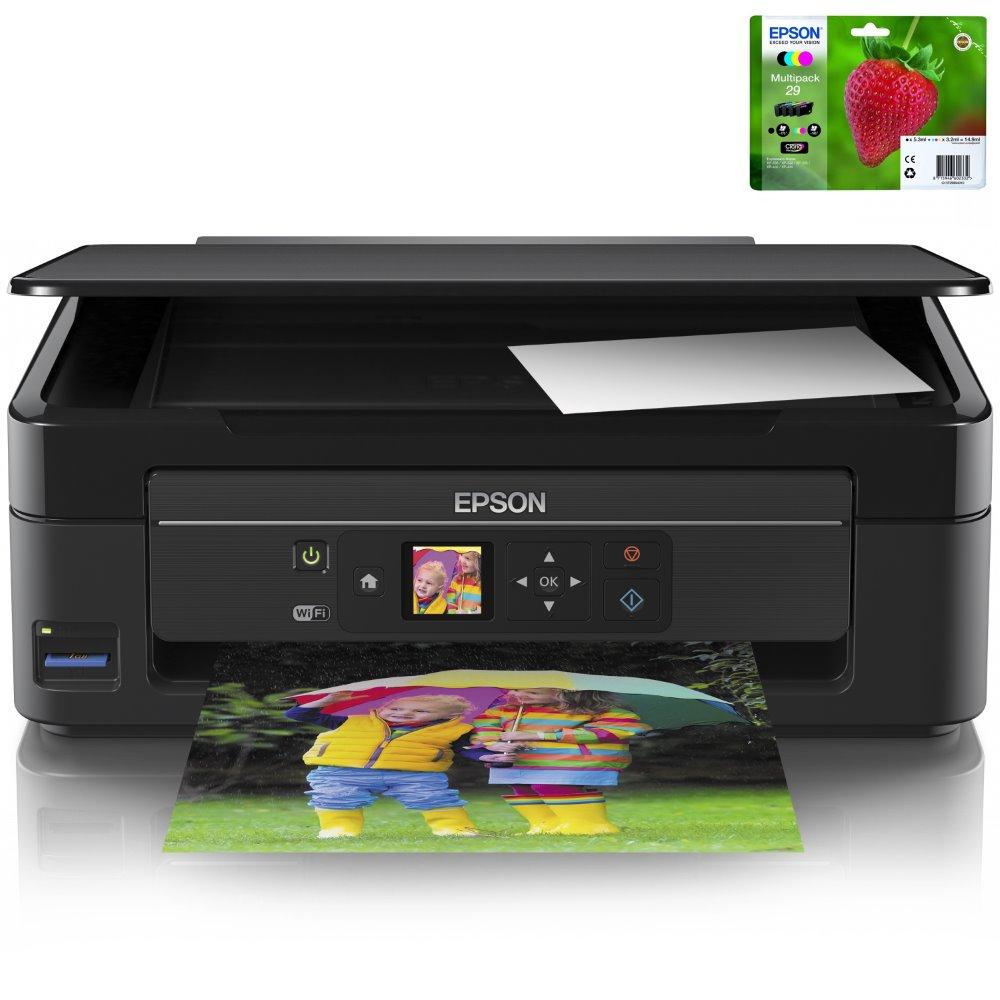 Multifunkční tiskárna Epson Expression Home XP-342 Barevná multifunkční inkoustová tiskárna, A4, 5760x1440dpi, 10/4,5 str./min, USB, Wi-Fi, + sada inkoustů T29