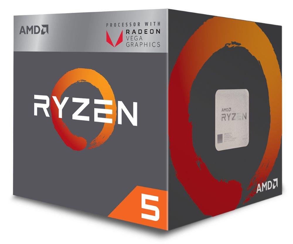 Procesor AMD Ryzen 5 2400G Procesor, 4 jádra, 8 vláken, max. 3,9GHz, 6MB, LGA AM4, 65W TDP, BOX s chladičem