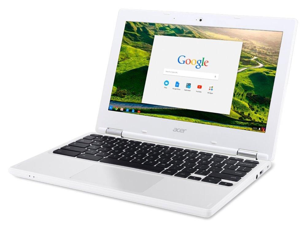 "Notebook Acer Chromebook 11 Notebook, Celeron N3160, 4GB DDR3L, eMMC 32GB, Intel HD 400, 11,6"" HD IPS, Chrome OS, bílý"
