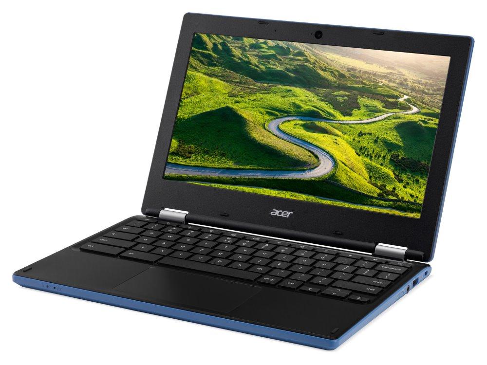 "Notebook Acer Chromebook 11 Notebook, Celeron N2940, 4GB DDR3L, eMMC 32GB, Intel HD, 11,6"" HD IPS, Chrome OS, modro-černý"