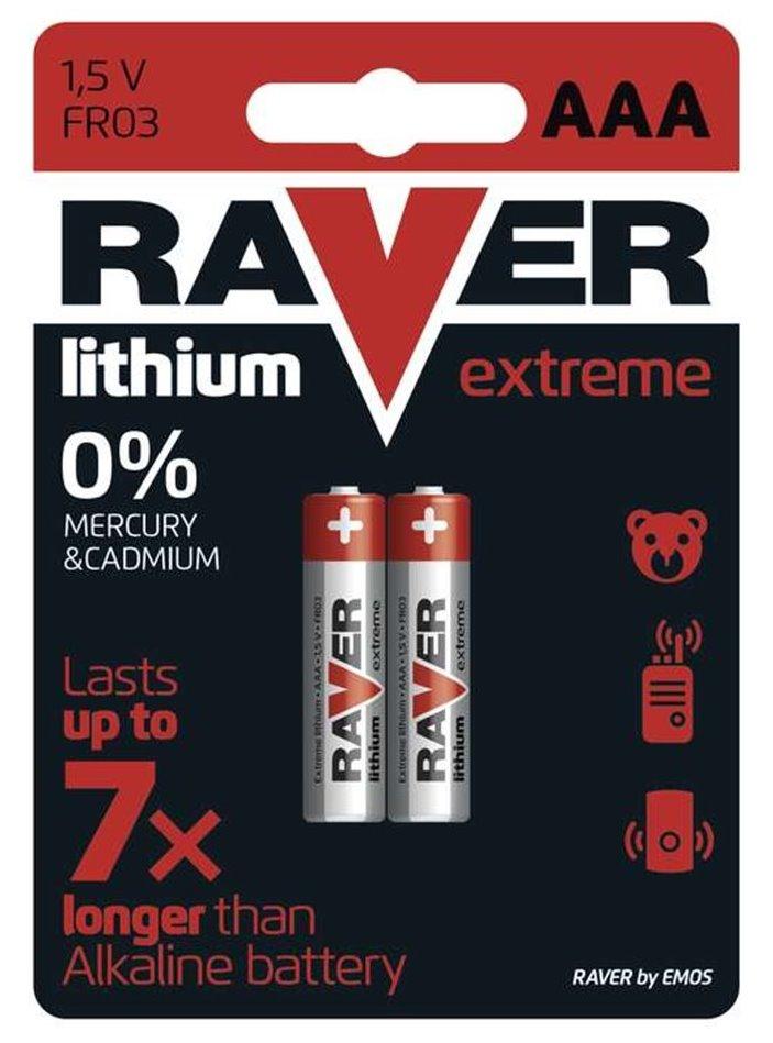 Baterie GP RAVER Extreme 1,5 V AAA (FR03) 2 ks Baterie, lithiová, 1,5V, AAA, FR03, 2ks blistr