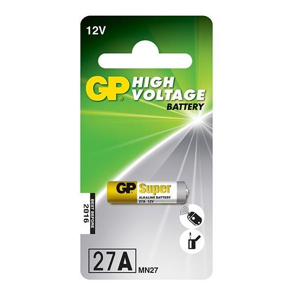 Baterie GP 12 V 27A 1 ks Baterie, alkalická, 12V, 20mAh, 27A, 1ks blistr