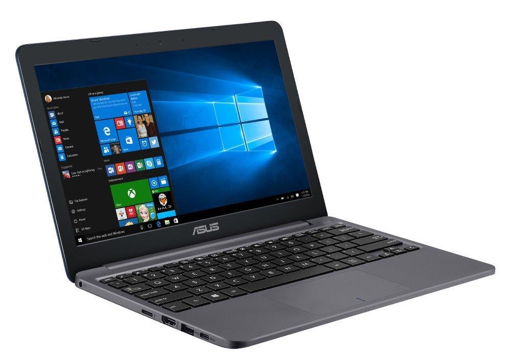 """Notebook ASUS E203NA-FD107TS Notebook, N3350, 4GB LPDDR3, 32GB EMMC, Intel HD 500, 11,6"""" HD TN, W10H, šedý"""
