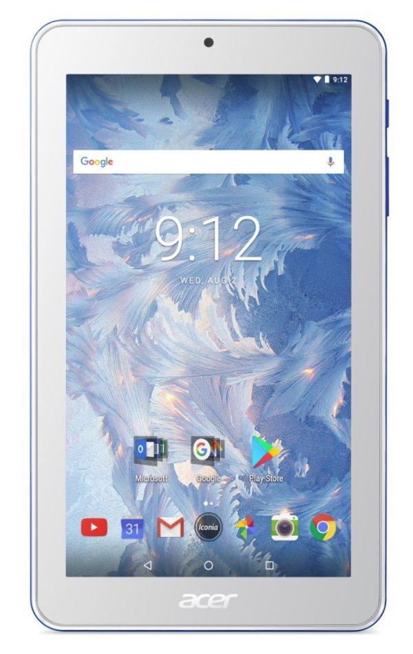 "Tablet Acer Iconia One 7 (B1-7A0-K68W) Tablet, 7"", MTK MT8167B, 1GB RAM, 16GB eMMC, Bluetooth, Android 7.0, bílo-modrý"