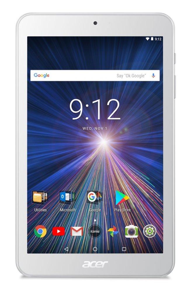 "Tablet Acer Iconia One 8 (B1-870-K3F9) Tablet, 8"" WXGA IPS, MTK MT8167B, 1GB RAM, 16GB, Bluetooth 4.0, Android 7.0, bílý"