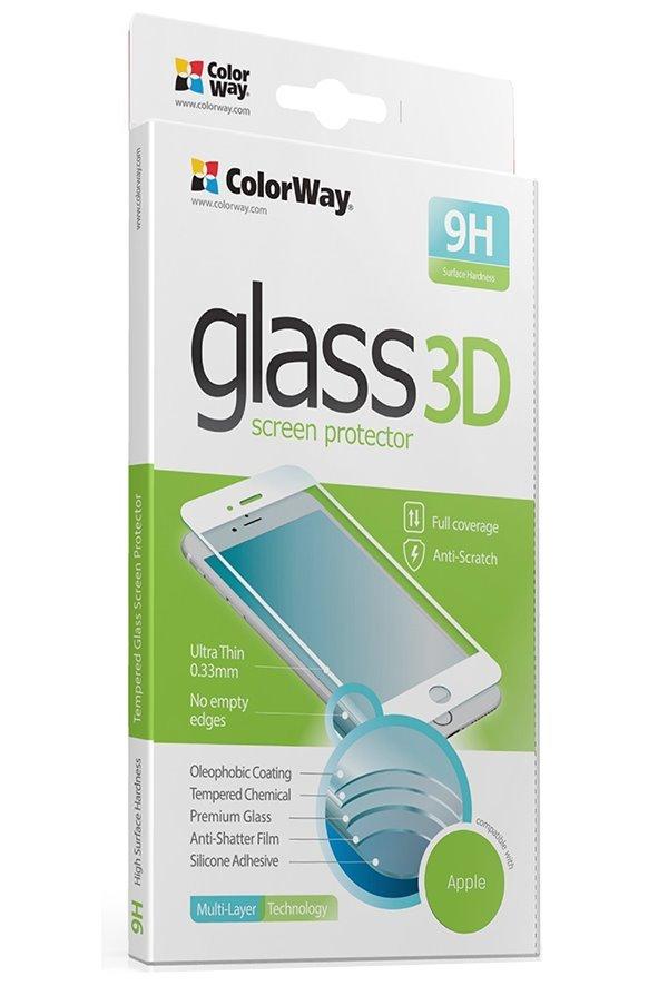 Colorway ochranná skleněná folie pro Apple iPhone X/ 3DTvrzené sklo/ Plné pokrytí