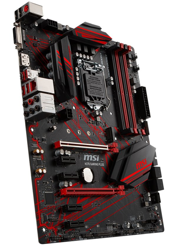 Základní deska MSI H370 GAMING PLUS Základní deska, Intel H370, LGA1151, 4x DDR4 (max. 64GB), DVI, DP, ATX