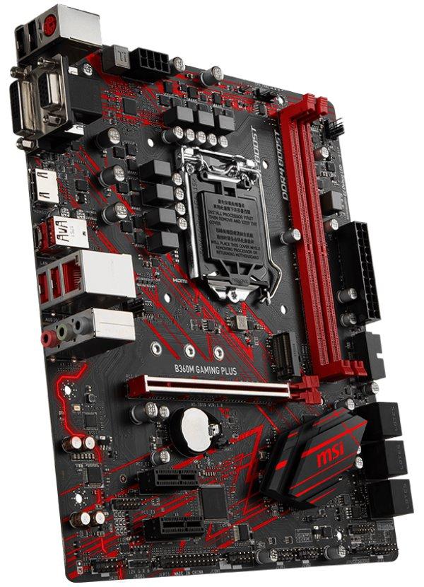 Základní deska MSI B360M GAMING PLUS Základní deska, Intel B360, LGA1151, 2x DDR4 (max. 32GB), VGA, DVI, HDMI, mATX