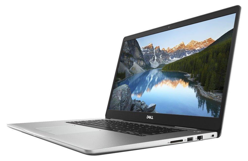 "Notebook Dell Inspiron 15 7000 (7570) Notebook, i7-8550U, 8GB, 128GB SSD + 1TB, NVIDIA GeForce MX130 4GB, 15.6"" Full HD, W10, stříbrný, 2YNBD on-site"