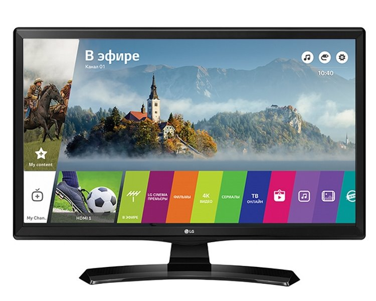 "LED monitor LG 24MT49S-PZ 23,6"" LED monitor, s TV tunerem, 23,6"" IPS, 1366x768, DVB-T2/C/S2, 200cd/m2, 14ms, CI slot, HDMI, USB, Wi-Fi, černý"