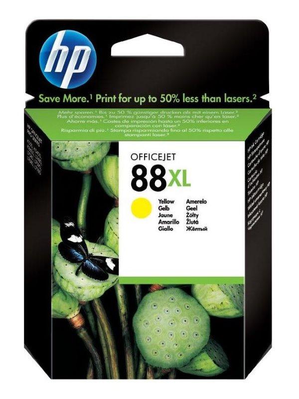 Inkoustová náplň HP 88 C9393AE žlutá Inkoustová náplň, originální, pro tiskárny HP OfficeJet Pro K8600, K550, K5400, L7x80, 15,1 ml, 1540 stran, žlutá C9393AE