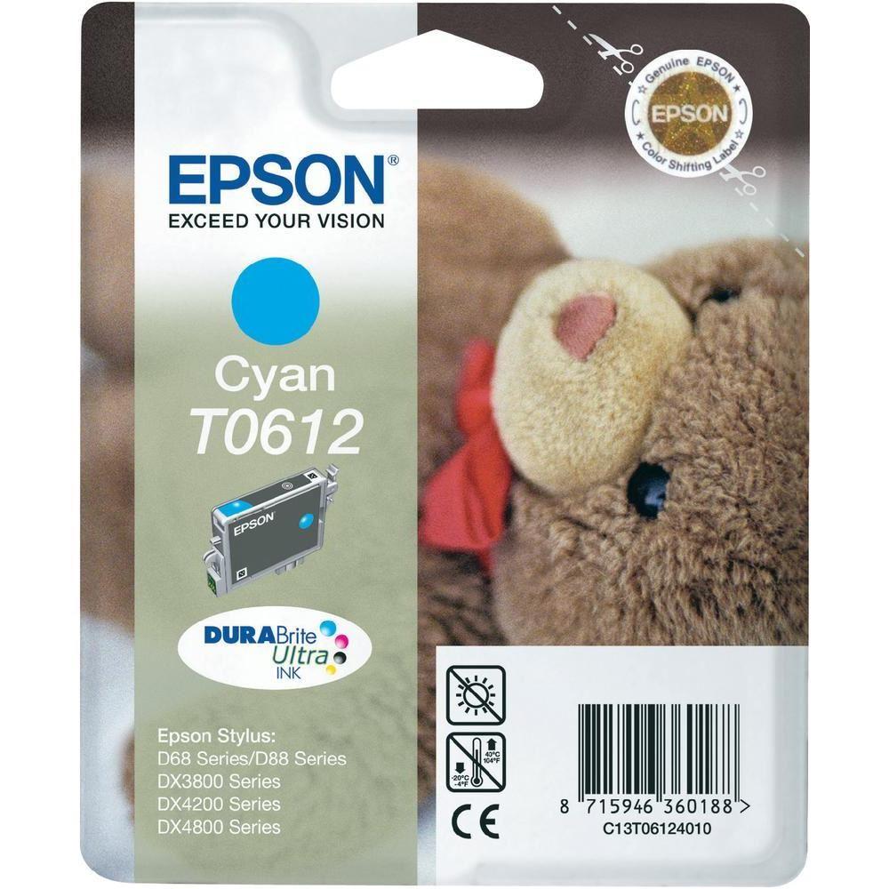 Cartridge inkoustová náplň Epson , C13T061240, Stylus D68, D88, DX3850, DX4850, Modrá C13T06124010