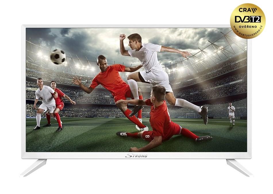 "LED televize Strong SRT24HZ4003NW 24"" bílá LED televize, 24"", HD 1366x768, DVB-T2/C/S2, H.265, HEVC, CRA ověřeno, 2x HDMI, USB, SCART, bílá, energ. třída A+"