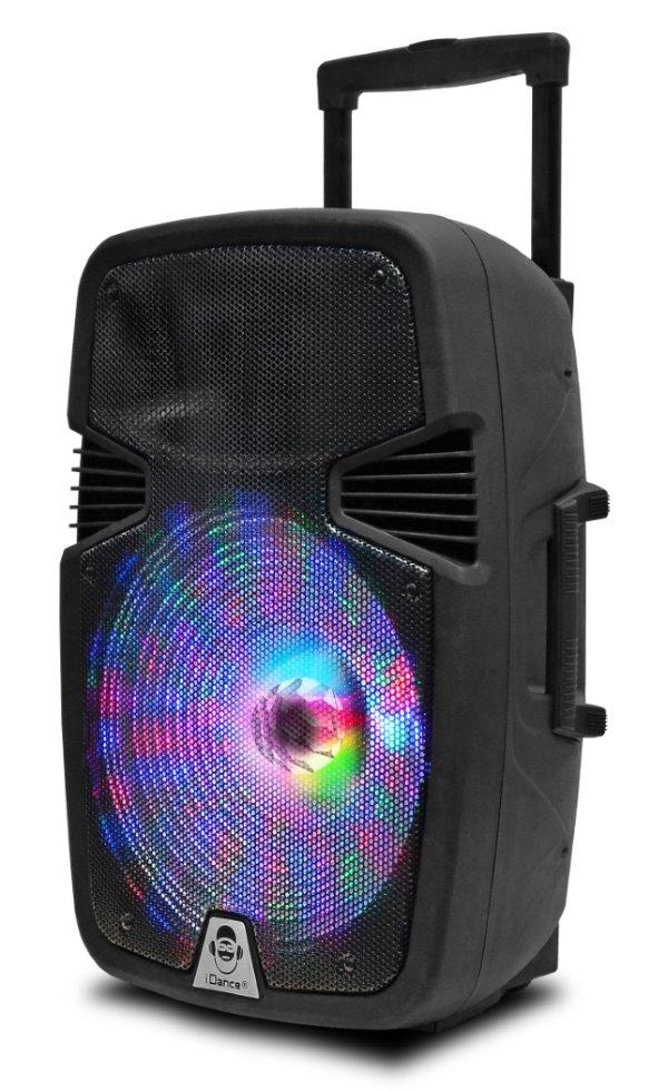 Reproduktor iDANCE GROOVE GR420MK3 Reproduktor, trolejový, 500W, Bluetooth, USB, MP3 přehrávání, LED podsvícení, 2x mikrofon