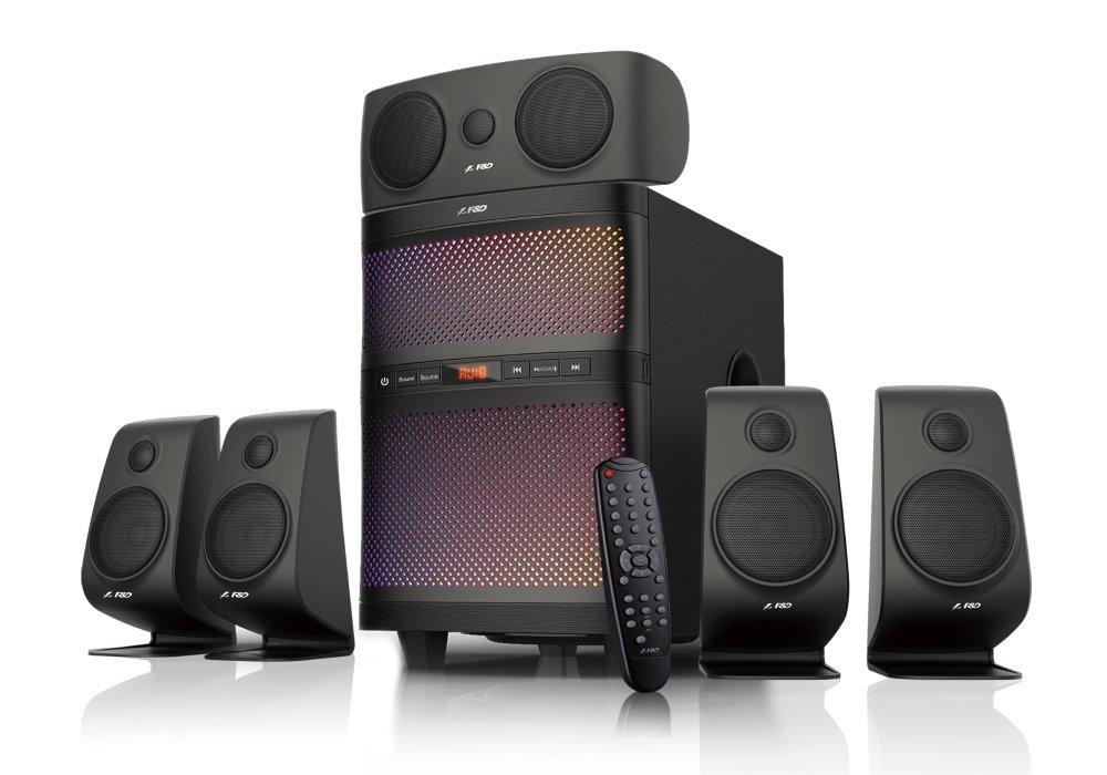 Akce! FENDA F&D repro F5060X/ 5.1/ 135W/ černé/ BT4.0/ FM rádio/ USB/SD přehrávání/ dálkové ovládání