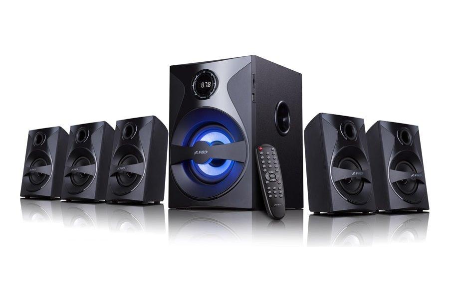 Akce! FENDA F&D repro F3800X/ 5.1/ 80W/ černé/ FM rádio/ USB/SD přehrávání/ dálkové ovládání