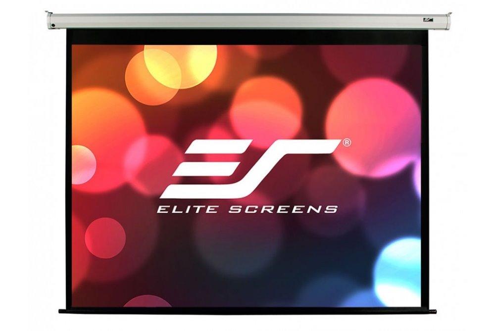 """Akce! ELITE SCREENS plátno elektrické motorové 84"""" (213,4 cm)/ 16:9/ 104,6 x 185,9 cm/ Gain 1,1/ case bílý"""