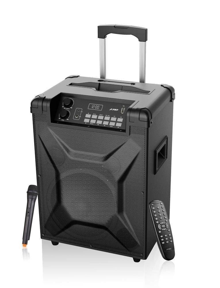 Akce! FENDA F&D párty repro T2/ trolejové/ 30W/ BT4.2/ USB přehrávání/ FM rádio/ bezdrátový mikrofon/ dálkové ovlád...