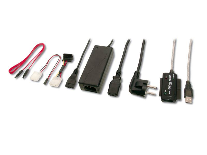 Konvertor PremiumCord USB 2.0 na IDE/SATA Konvertor, USB2.0 - IDE+SATA s napájením ku2ides