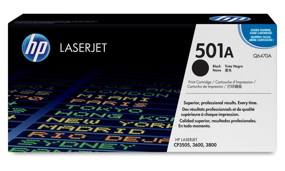 Toner HP 501A Q6470A černý Toner, originální, pro HP Color LaserJet CP3505, 3600, 3800, 6000 stran, černý Q6470A