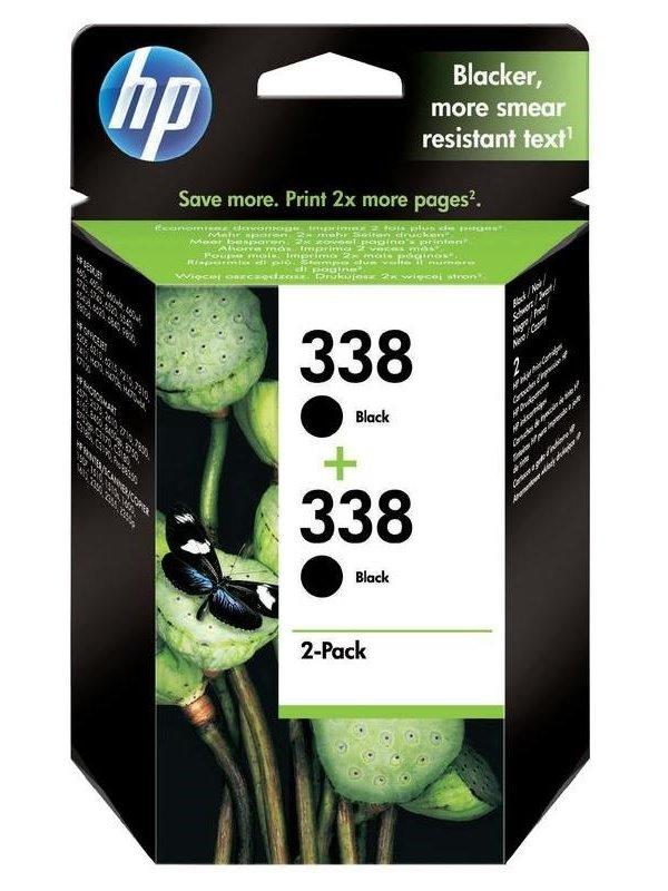 Inkoustová náplň HP 2x338 CB331EE černá Inkoustová náplň, originální, pro HP DeskJet, Officejet, Photosmart, doublepack, černá CB331EE