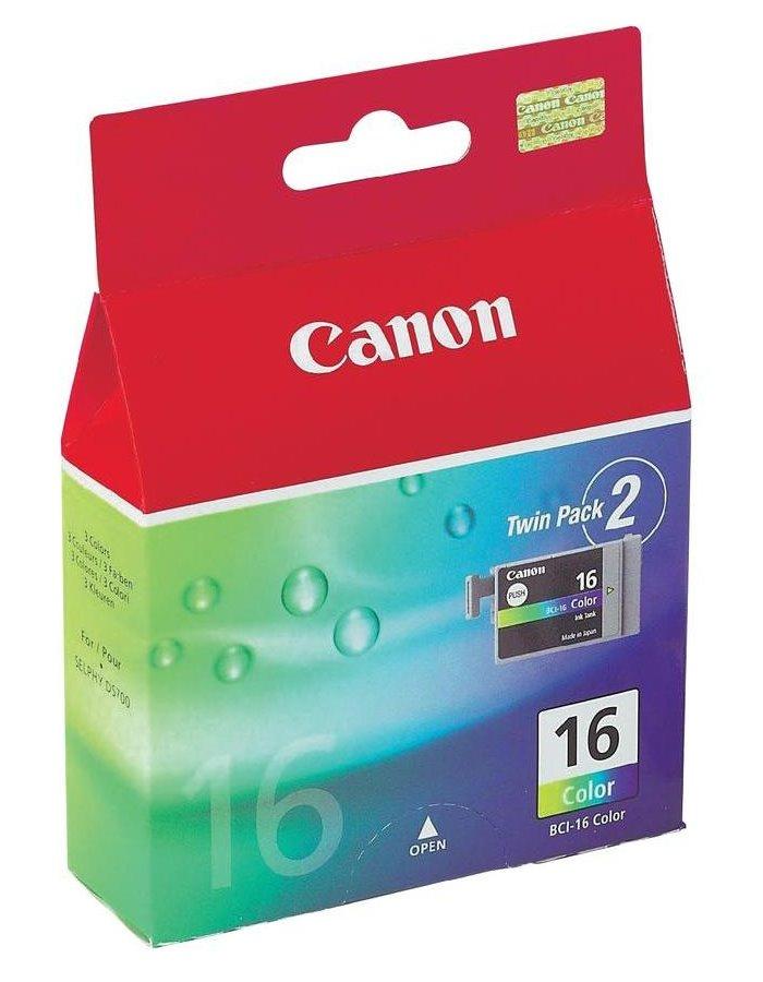 Cartridge inkoustová náplň Canon BCI-16C, 2ks v balení, Barevná CARC29879