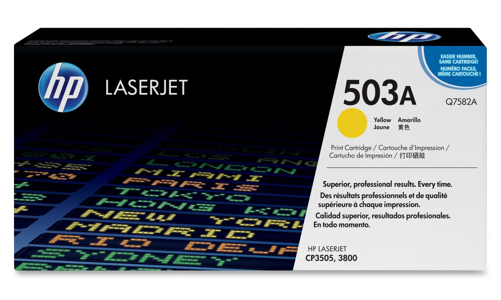 Toner HP 503A Q7582A žlutý Toner, originální, pro HP Color LaserJet CP3505, 3800, 6000 stran, žlutý Q7582A