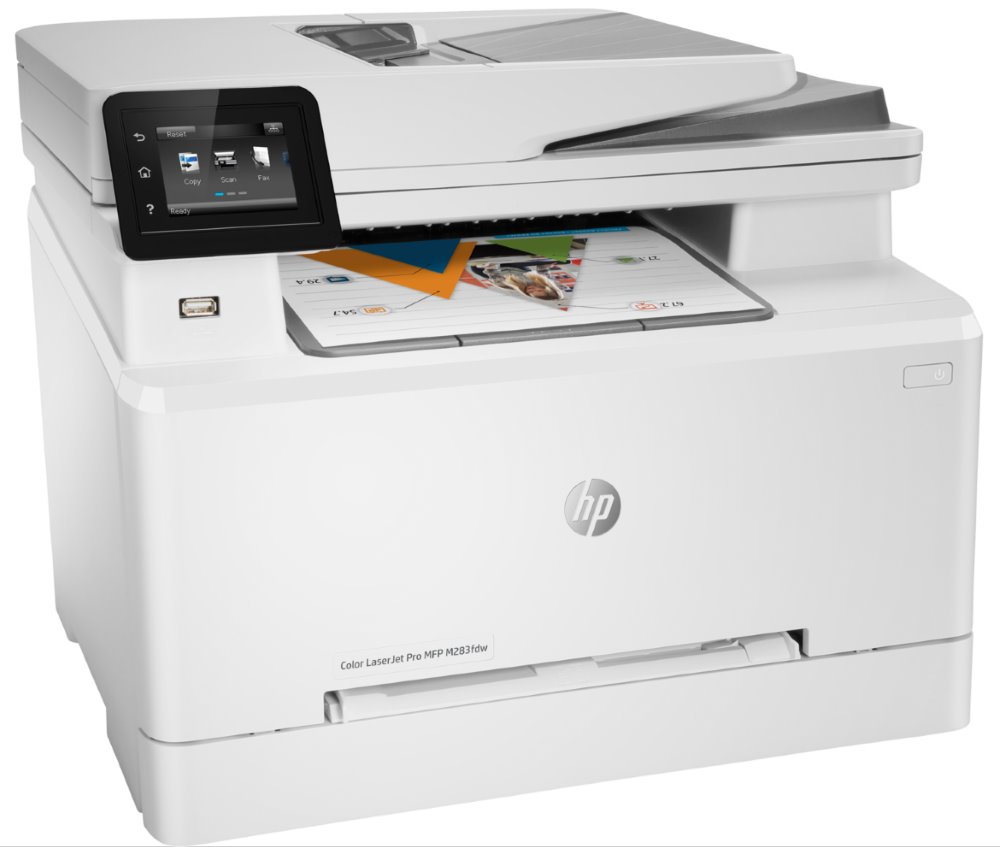 HP Color LaserJet Pro M283fdw/ PSCF/ A4/ 21ppm/ 600x600dpi/ USB/ WiFi/ ADF/ duplex/ ePrint/ AirPrint