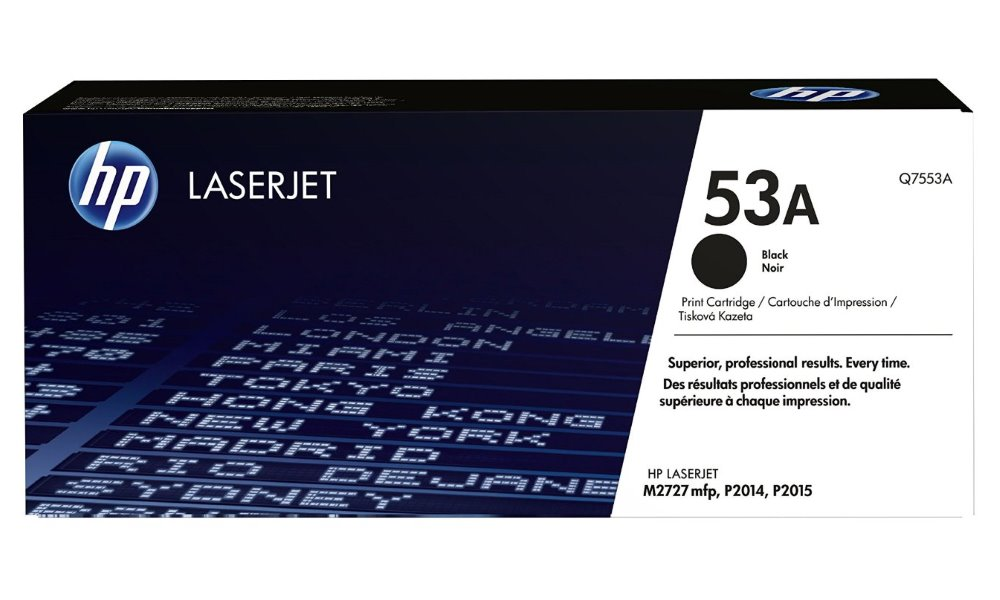 Toner HP 53A Q7553A černý Toner, originální, pro HP LaserJet P2014, P2015, M2727, 3000 stran, černý Q7553A