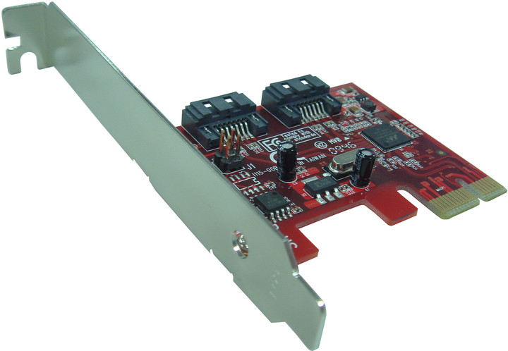 Řadič Kouwell KW-5103 Řadič, PCI-E Karta SATA II, 2x interní port, Low profile KW-5103