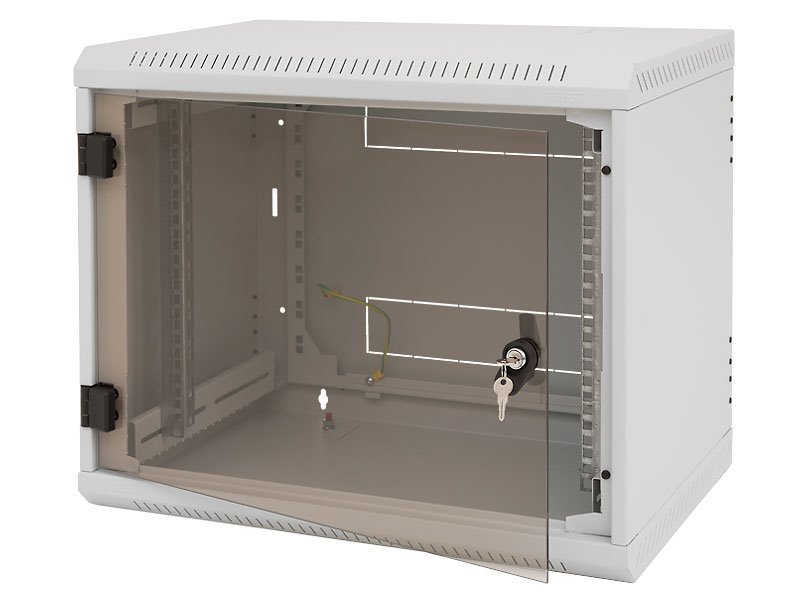 Nástěnný rozvaděč Triton RBA-12-AS4-CAX-A1 Nástěnný rozvaděč, 12U, 400 mm, celoskleněné dveře RBA-12-AS4-CAX-A1