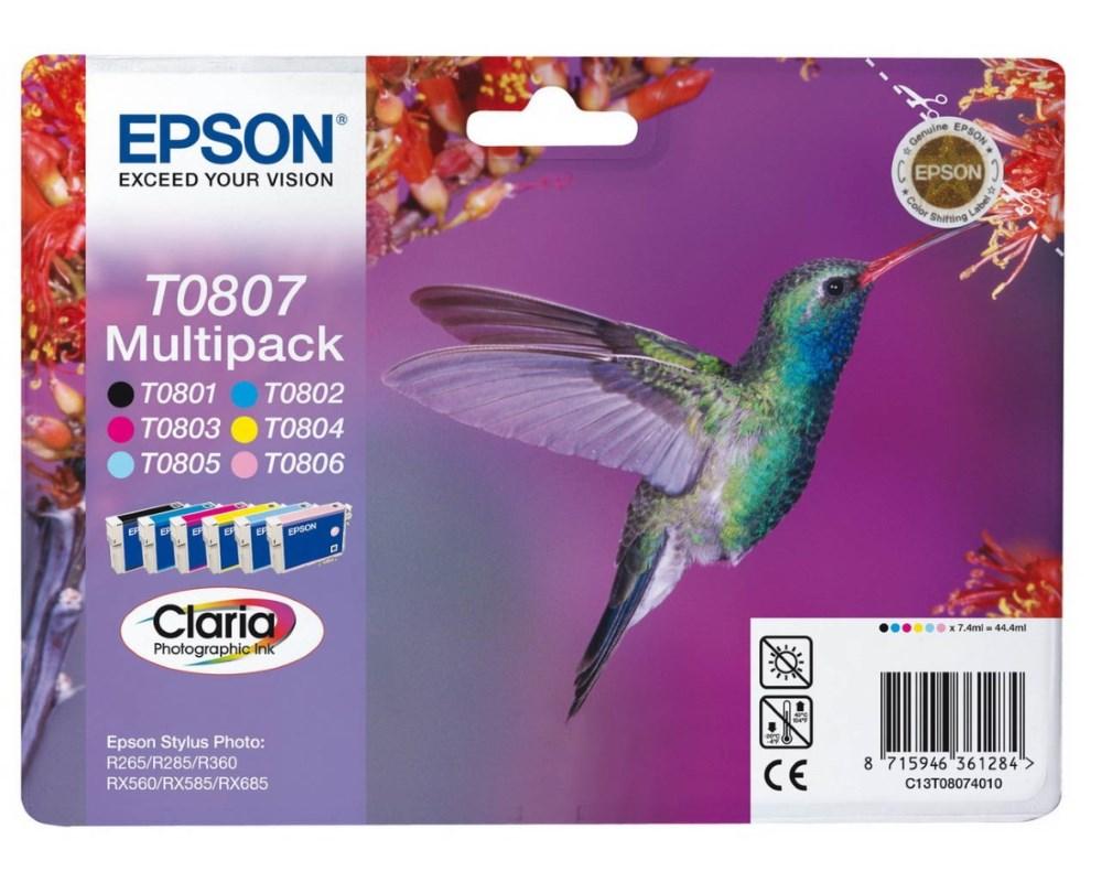 Epson inkoustové náplně - MULTIPACK/ C13T080740/ R265/ R360/ RX560/ 6 barev