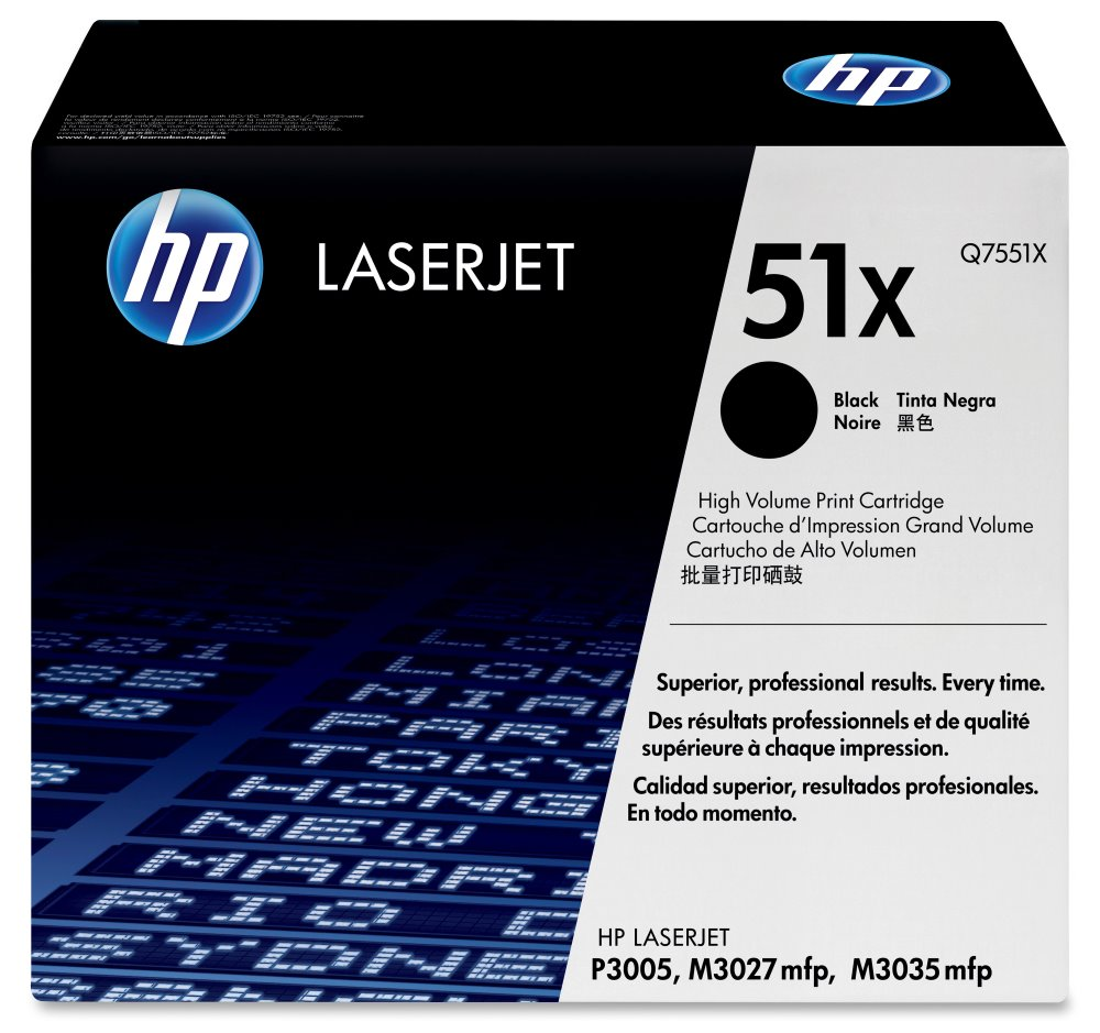 Toner HP Q7551X pro LJ P3005,M3035, černý Q7551X